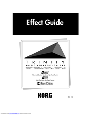Korg TouchView Trinity Effect Manual