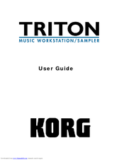Korg TRITON Musical Instrument User Manual