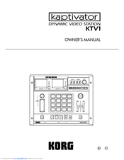 Korg Kaptivator KTV1 Owner's Manual