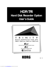 Korg TRINITY HDR-TRI User Manual