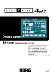 Korg AmkII Owner's Manual