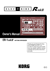 Korg Electribe ER-1 mkII Owner's Manual