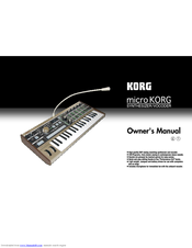 Korg microKORG Owner's Manual