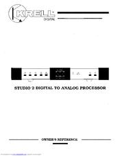 krell industries digital to analog processor studio 2 manuals rh manualslib com