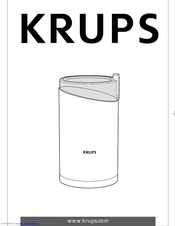 Krups F 203 Instructions For Use Manual