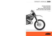 ktm 125 exc 2008 owner's manual