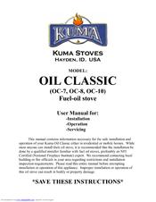 KUMA STOVES OC-10 USER MANUAL Pdf Download