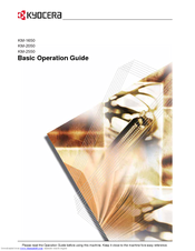 Kyocera KM-2050 Basic Operation Manual