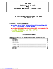Kyocera KM-5050 Specifications