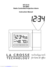 la crosse technology radio controlled projection alarm wt 5110 manuals rh manualslib com Lacrosse Atomic Clock WWVB Radio Controlled Clock Wrong Time