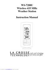 la crosse technology ws 7208u instruction manual pdf download rh manualslib com la crosse technology clock user manual la crosse technology clock instruction manual