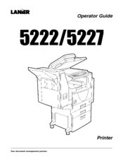 Lanier 5227 Operator Manual