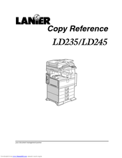 Lanier LD245 Copy Reference Manual