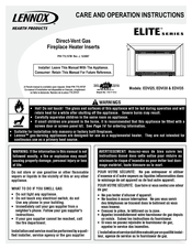 Lennox hearth products EDVI35 Pdf User Manuals. View online or download Lennox hearth products EDVI35 Care And Operation Instructions Manual