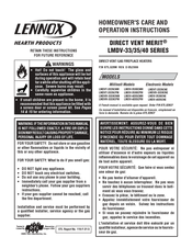 Lennox Hearth Products LMDV 4035CNM Manuals