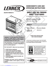 Lennox Hearth Products MPD35ST NM Manuals