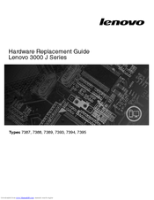 Lenovo 7394 Hardware Replacement Manual