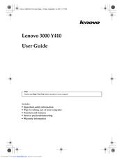 lenovo 3000 y410 manuals rh manualslib com Lenovo IdeaPad N20p Lenovo Wallpaper Windows 7