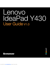 Lenovo Y430 User Manual