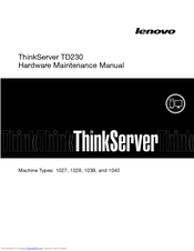 Lenovo 1027, 1029, 1039, 1040 Hardware Maintenance Manual