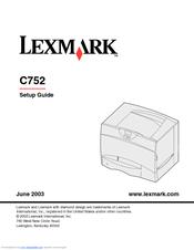 lexmark c752 user manual download