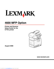 lexmark 4600 mfp option service repair manual