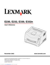 Lexmark E232 User Reference Manual