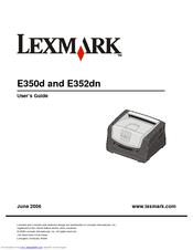 lexmark e352dn e 352dn b w laser printer manuals rh manualslib com Lexmark MS310d Laser Printer Lexmark MS310d Laser Printer