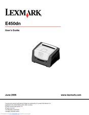 lexmark e450dn manual