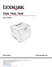 lexmark t644 series manuals rh manualslib com lexmark t644 manual paper jam lexmark t644 manual de servicio