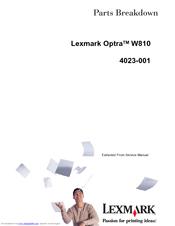 lexmark optra w810 manual