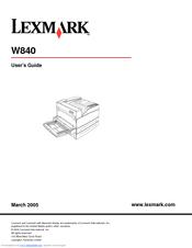 lexmark w840 manual