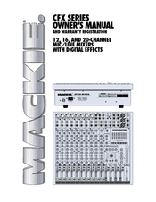 Mackie CFX12 MKII - DIAGRAMS Manuals on
