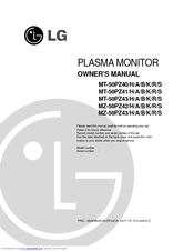 LG MZ-50PZ43 Owner's Manual