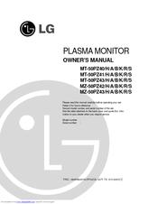 LG MZ-50PZ43 Owner's Manual
