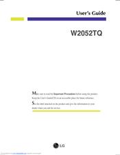 LG W2052TQ-PF User Manual