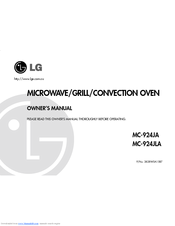 LG MC-924JA Owner's Manual