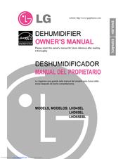 lg lhd45el owner s manual pdf download rh manualslib com LG Dehumidifier Recall Model Numbers LG Dehumidifiers for Basements