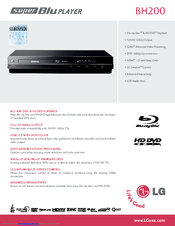 LG BH200 -  Super Blu Blu-Ray Disc User Manual