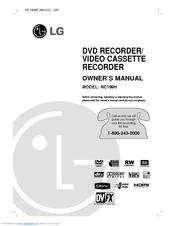 lg rc199h owner s manual pdf download rh manualslib com LG DVD VCR Best DVD Recorder
