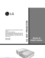 LG BX220 Owner's Manual