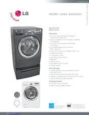LG WM2455HG - 27in Front-Load XL Washer Specifications