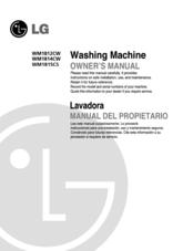 lg wm1814cw manuals rh manualslib com LG WM1814CW Washing Machine LG Washing Machine Parts Manual