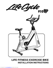 Life Fitness Exercise Bike Lifecycle 9100 Manuals