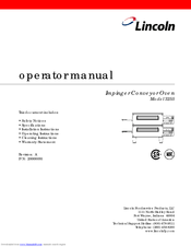 lincoln impinger conveyorized oven 3255 operator s manual pdf download rh manualslib com Lincoln Impinger Pizza Oven Model 1040 lincoln impinger conveyor pizza oven manual