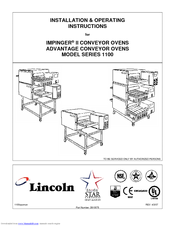 Lincoln Impinger II 1132-000-A Installation And Operating Instructions Manual