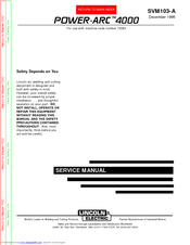 lincoln 400as 50 wiring diagram lincoln electric power arc 4000 svm103 a service manual pdf  lincoln electric power arc 4000 svm103