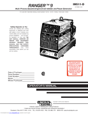 Lincoln electric RANGER 9 Manuals | ManualsLibManualsLib