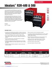 lincoln electric idealarc r3r 400 manuals. Black Bedroom Furniture Sets. Home Design Ideas