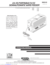lincoln ln 25 pro manual